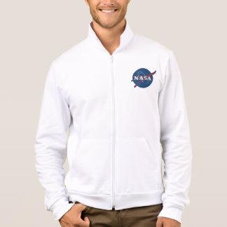 Die Fleece-Ziprüttler der Männer mit die NASA-Logo Jacke