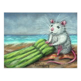 Die Floss-Ratten-Strand-Postkarte Postkarte