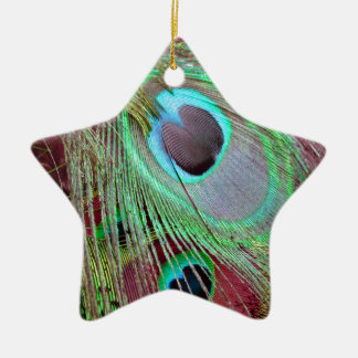 Die flüssige Feder des Pfaus des blauen Auges Keramik Ornament