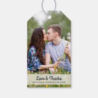 Die Foto-Gastgeschenk Hochzeit etikettiert | Geschenkanhänger