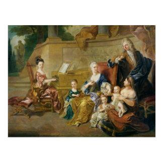 Die Franqueville Familie, 1711 Postkarte