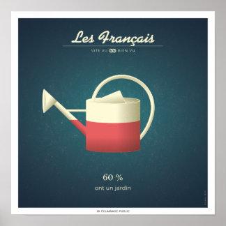 Die Franzosen, die einen Garten haben Poster
