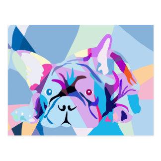 Die französische Bulldogge Postkarte