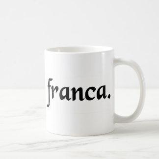 Die französische Zunge Kaffeetasse