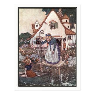 Die Frau gelernt in der Magie von Edmund Dulac Postkarte