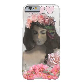 Die Frau mit Rosen Barely There iPhone 6 Hülle