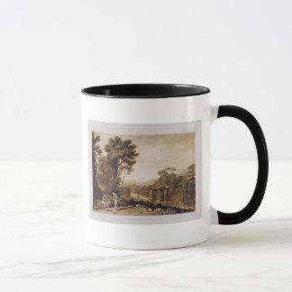 Die Frau und der Tambourine, graviert durch Tasse
