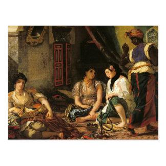 Die Frauen von Algier in ihrer Wohnung, 1834 Postkarte
