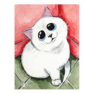 Die freche Ecke: Zeit hoch - Katzen-Kunst Postkarte