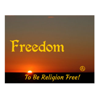 Die Freiheit, zum Religion zu sein geben frei! Postkarten