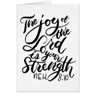 Die Freude am Lord ist Ihr Stärken-Bürsten-Skript Karte
