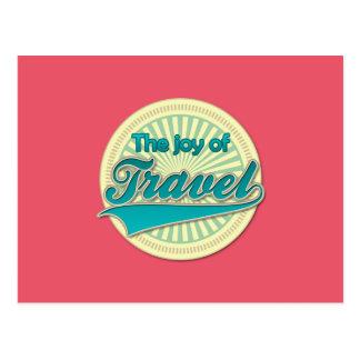 Die Freude an der Reise Postkarte