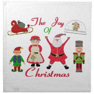 Die Freude an der Weihnachtscollage Stoffserviette