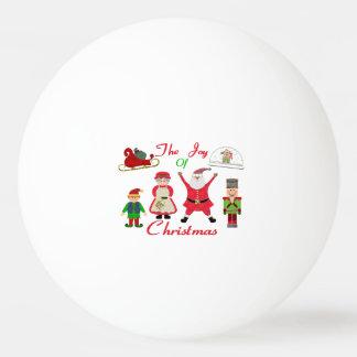 Die Freude an der Weihnachtscollage Tischtennis Ball