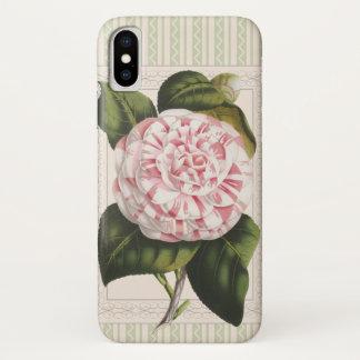 Die Freude-Vintage rosa des Gärtners und weiße iPhone X Hülle