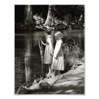 Die Freundschafts-der Schwester zwei kleinen Mädch Fotodruck