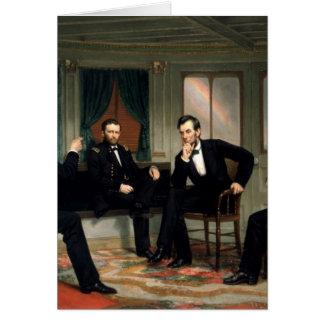 Die Friedensstifter mit Abraham Lincoln Karte
