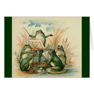 Die Frosch-Musiker Karte