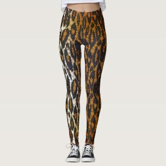 Die Gamaschen der stilvollen Leopard-Druck-Frauen Leggings