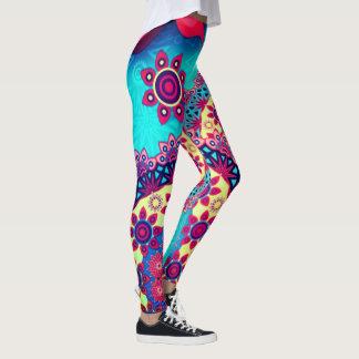 die Gamaschen elektrischer pasiley Frauen Leggings