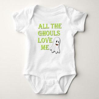 Die ganze Ghouls-Liebe ich Geist-grüne Baby Strampler