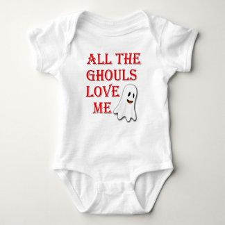 Die ganze Ghouls-Liebe ich Geist-rote Baby Strampler