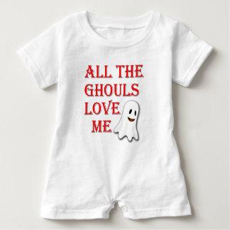 Die ganze Ghouls-Liebe ich Geist-roter Baby Strampler