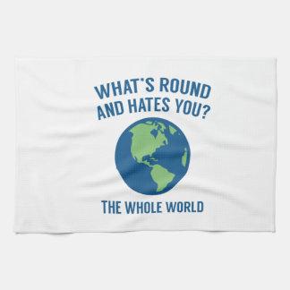 Die ganze Welt Geschirrtuch