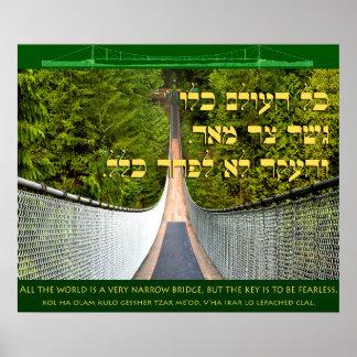 Die ganze Welt ist eine schmale Brücke Poster