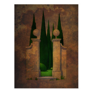 Die Garten-Kunst Postkarte