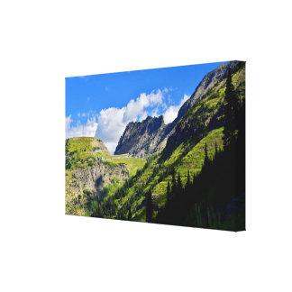 Die Garten-Wand im Glacier Nationalpark Leinwanddruck