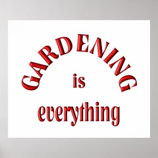 Die Gartenarbeit ist alles Plakatdrucke