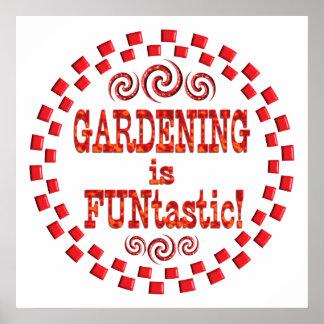 Die Gartenarbeit ist FUNtastic Plakat