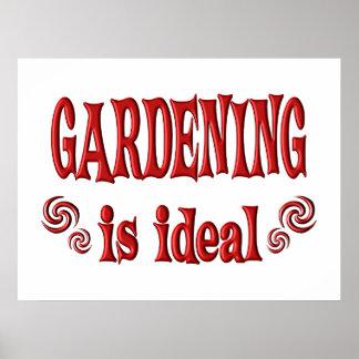 Die Gartenarbeit ist ideal Poster