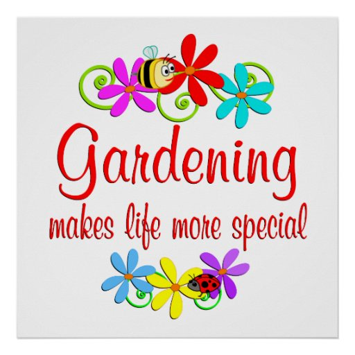 Die Gartenarbeit ist speziell Posterdruck