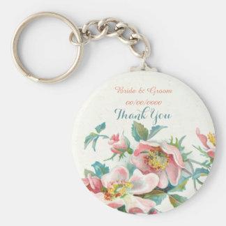 die Gastgeschenke Hochzeit, wedding dankt Ihnen Standard Runder Schlüsselanhänger