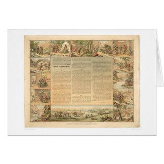 Die Gebote des Bergmannes zehn (1081A) Karte