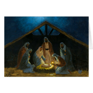 Die Geburt Christi Karte