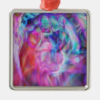 Die Geburt Christi Quadratisches Silberfarbenes Ornament