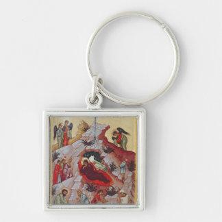 Die Geburt Christi, russische Ikone, 16. Jahrhunde Schlüsselanhänger