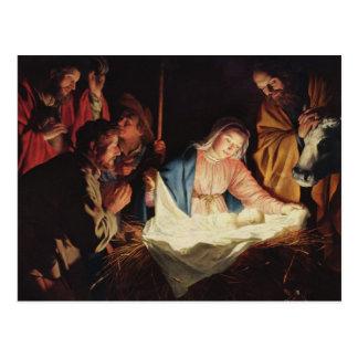 Die Geburt Christi von Jesus - Gerard van Postkarte