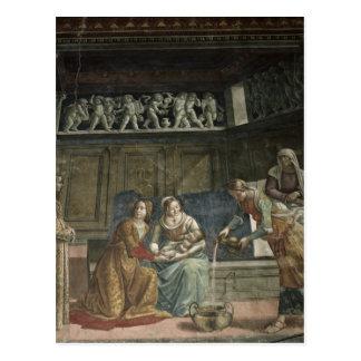 Die Geburt der Jungfrau, 1485-90 Postkarte