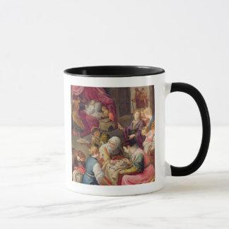 Die Geburt der Jungfrau, 1640 (Öl auf Leinwand) Tasse