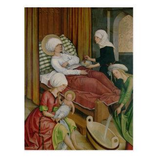 Die Geburt der Jungfrau, c.1500 Postkarte