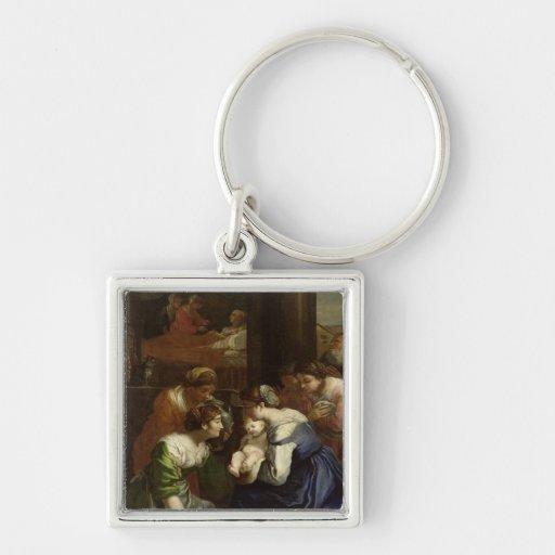 Die Geburt der Jungfrau, c.1620 Schlüsselbänder