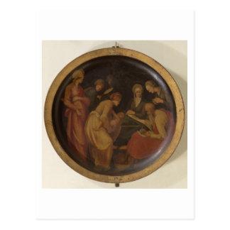 Die Geburt von Johannes der Baptist, c.1526 (Öl an Postkarte