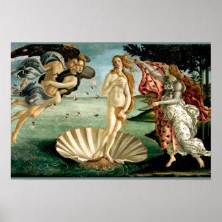 Die Geburt von Venus durch Botticelli Poster