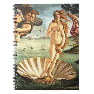 Die Geburt von Venus Notizblock