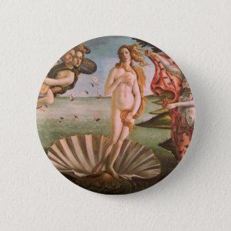 Die Geburt von Venus Runder Button 5,7 Cm