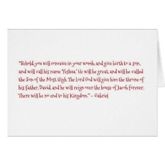 Die Geburt von Yeshua Karte